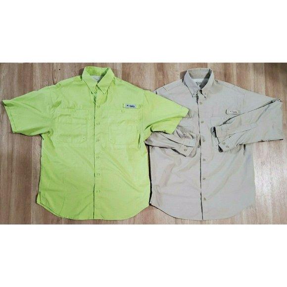 Columbia Mens Lot of 2 PFG Tamiami II Shirts Small